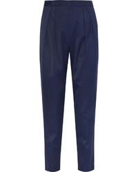 Pantalón de pinzas azul marino
