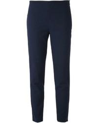 Pantalón de pinzas azul marino de Jil Sander