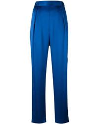 Pantalón de pinzas azul de Diane von Furstenberg