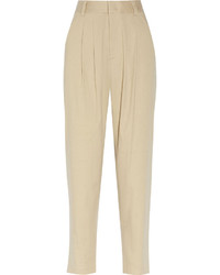 Pantalon de pinzas beige original 10582892