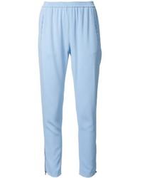 Pantalón de pinzas celeste de Stella McCartney