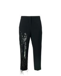 Pantalón de pinzas con adornos negro