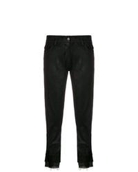 Pantalón de pinzas de cuero negro de Ann Demeulemeester