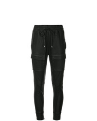 Pantalón de pinzas de cuero negro de Manning Cartell