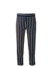 Pantalón de pinzas de rayas verticales azul marino de Thom Browne