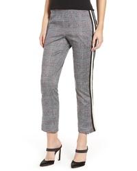 Pantalón de pinzas de tartán gris