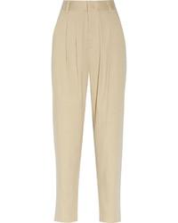 Pantalón de pinzas en beige