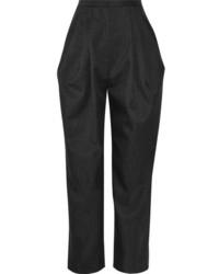 Pantalón de pinzas en gris oscuro