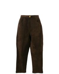 Pantalón de pinzas en marrón oscuro de Chanel Vintage