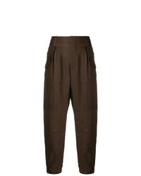 Pantalón de pinzas en marrón oscuro de Chloé
