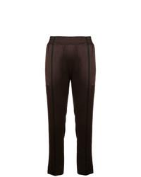 Pantalón de pinzas en marrón oscuro de Haider Ackermann