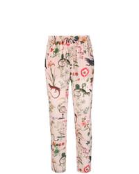 Pantalón de pinzas estampado rosado de RED Valentino