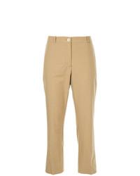 Pantalón de pinzas marrón claro de Erika Cavallini
