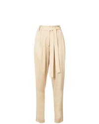 Pantalón de pinzas marrón claro de Jason Wu GREY