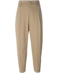 Pantalón de pinzas marrón claro de Jil Sander