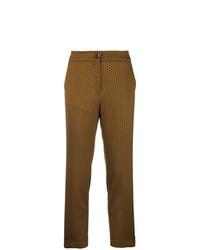 Pantalón de pinzas mostaza