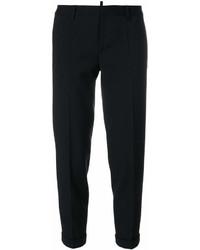 Pantalón de pinzas negro de Dsquared2