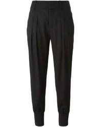 Pantalón de pinzas negro de Helmut Lang