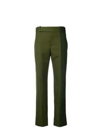 Pantalón de pinzas verde oliva de Haider Ackermann