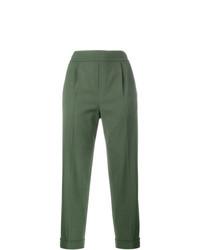 Pantalón de Pinzas Verde Oliva de Vince