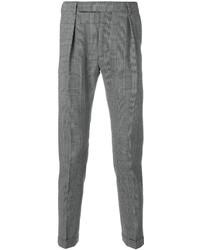 Pantalón de vestir a cuadros en negro y blanco