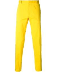 Pantalón de vestir amarillo de DSQUARED2