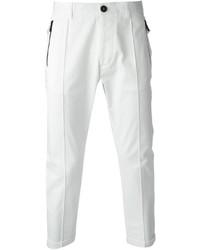 Pantalón de vestir blanco de DSQUARED2