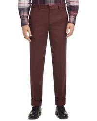 Pantalón de vestir burdeos