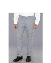 Pantalón de vestir de cuadro vichy gris