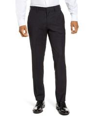 Pantalón de vestir de cuadro vichy negro