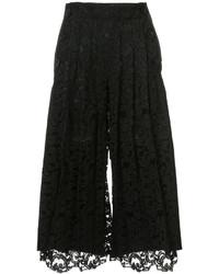 Pantalón de vestir de encaje negro de Sacai