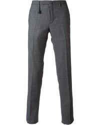 Pantalón de vestir de lana a cuadros gris de Incotex