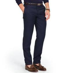 Pantalón de Vestir de Lana Azul Marino