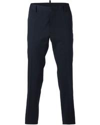Pantalón de vestir de lana azul marino de DSQUARED2
