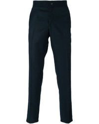 Pantalón de vestir de lana azul marino de Lanvin
