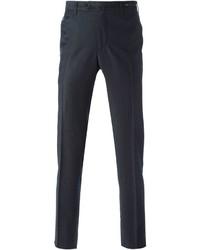 Pantalón de vestir de lana azul marino de Pt01