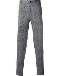 Pantalón de vestir de lana de espiguilla gris