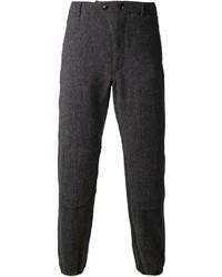 Pantalón de Vestir de Lana de Espiguilla Gris Oscuro de Engineered Garments