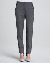 a85a4725c Cómo combinar un pantalón de vestir en gris oscuro (86 looks de moda ...