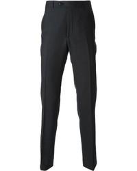 Pantalón de vestir de lana en gris oscuro de Corneliani