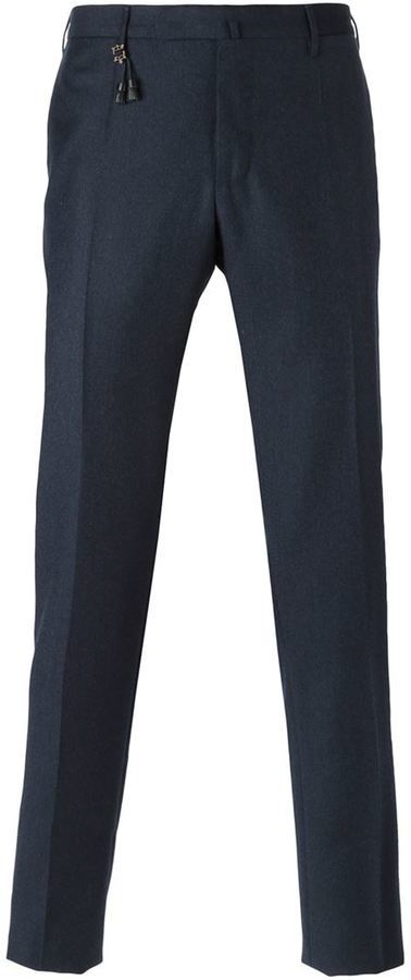 Pantalón de vestir de lana en gris oscuro de Incotex