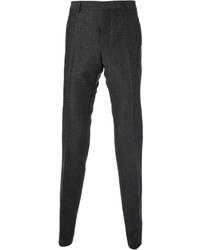 Pantalón de vestir de lana en gris oscuro de Valentino