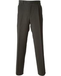Pantalón de vestir de lana en marrón oscuro de Canali