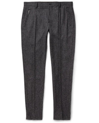 Pantalón de Vestir de Lana Gris Oscuro