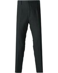 Pantalón de Vestir de Lana Gris Oscuro de Dolce & Gabbana