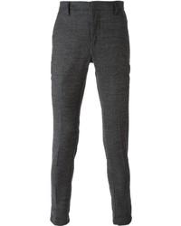 Pantalón de Vestir de Lana Gris Oscuro de Dondup