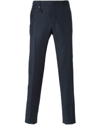 Pantalón de Vestir de Lana Gris Oscuro de Incotex