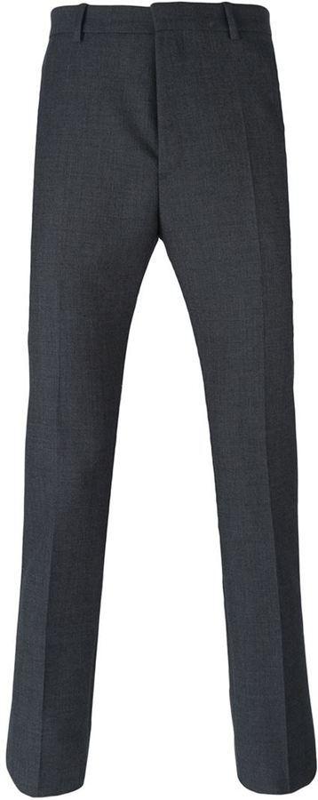 Pantalón de Vestir de Lana Gris Oscuro de Jil Sander
