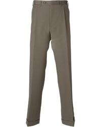 Pantalón de vestir de lana marrón claro de Canali
