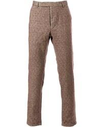 Pantalón de vestir de lana marrón de Mando